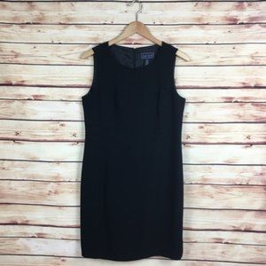 Laura Scott Little Black Sheath Dress Sleeveless